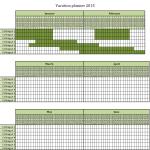 Vacation Planner Calendar 2015