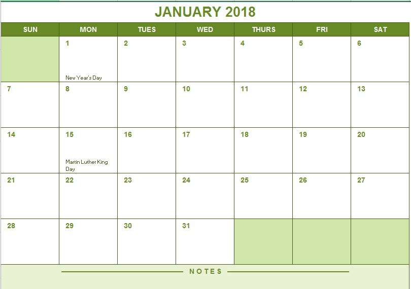 Full Year Calendar  Excel Templates For Every Purpose