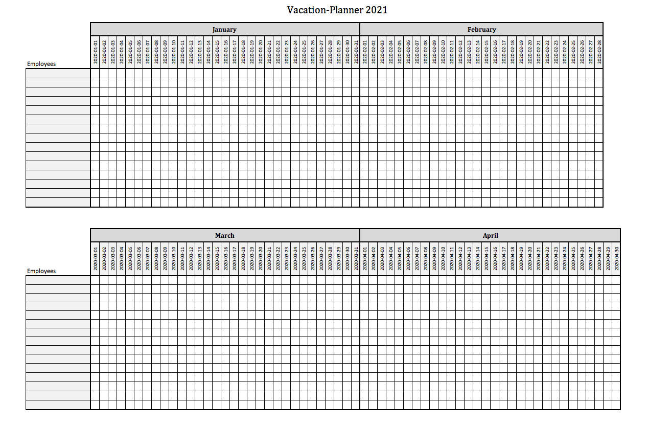 Sample Excel Templates Vacation Planner Excel Download