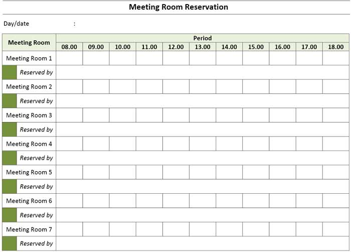 Sample checklists, on the other hand, are tools prepared beforehand that lists down the. Meeting Room Booking Reservation Template Excel