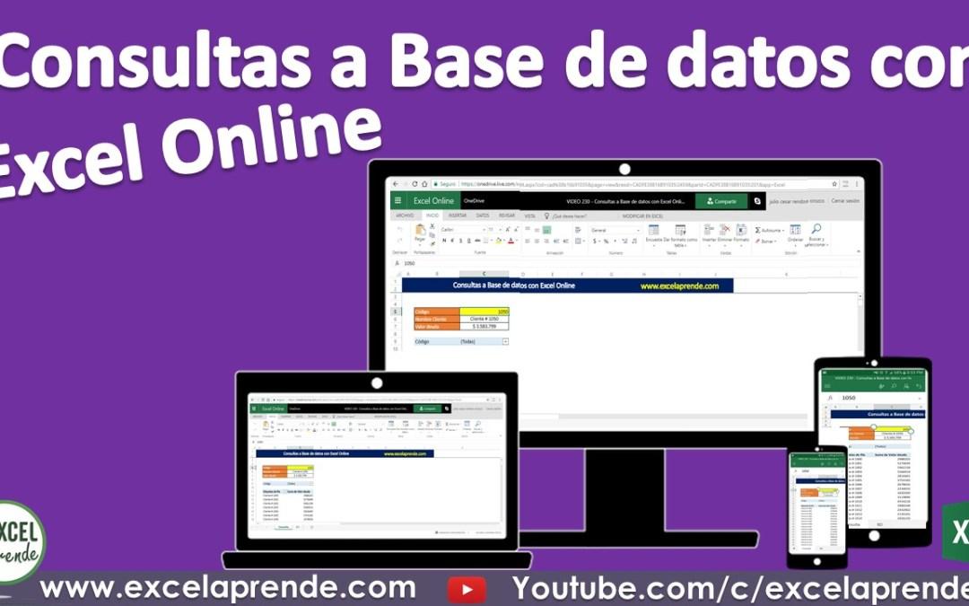 Consultas a Base de datos con Excel Online | Excel Aprende