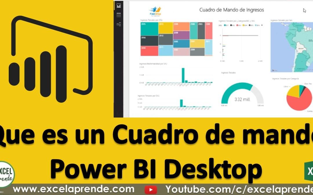 Que es un Cuadro de mando – Power BI Desktop | Excel Aprende