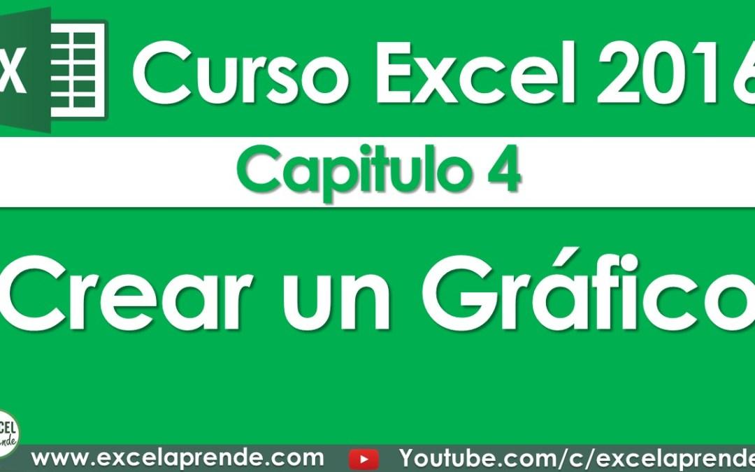 Curso Excel 2016 – Capitulo 4 – Crear un Gráfico | Excel Aprende