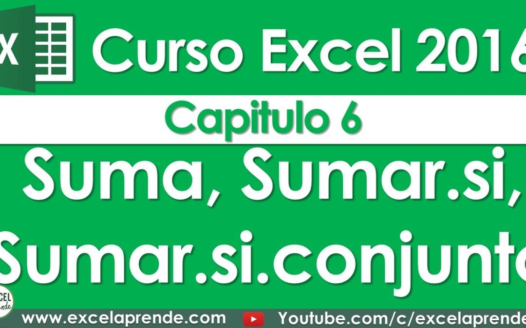 Curso Excel 2016 – Capitulo 6 – Sumando | Excel Aprende