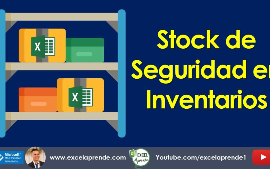Stock de Seguridad en Inventarios   Excel Aprende