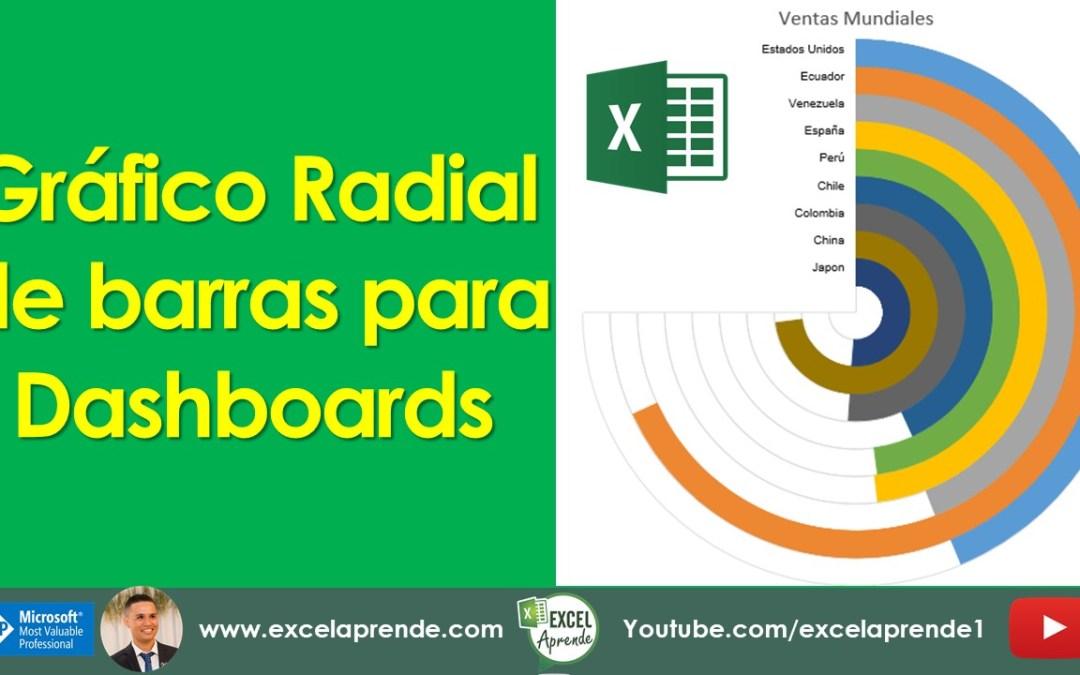 Gráfico Radial de barras para Dashboards | Excel Aprende