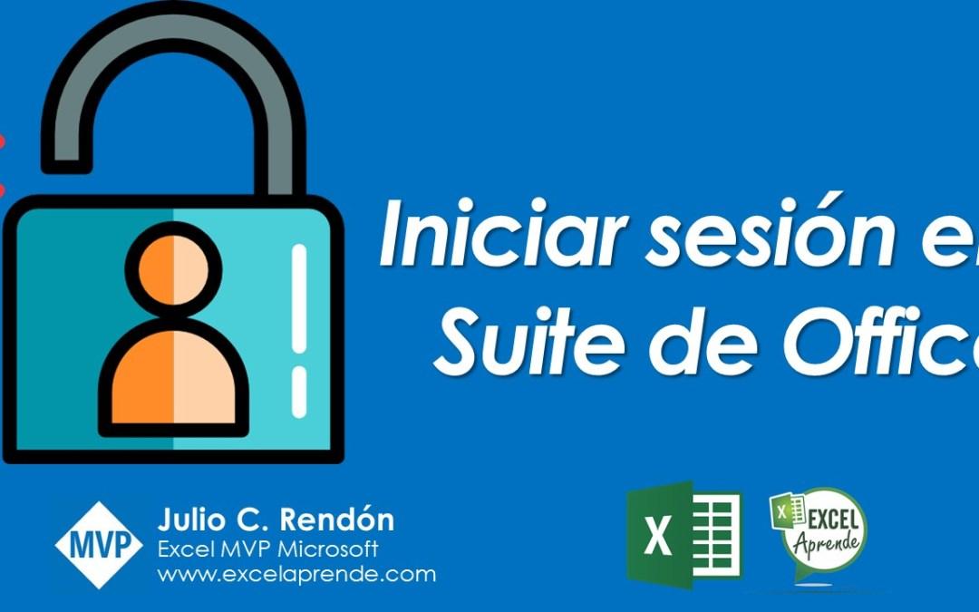 Iniciar sesión en Suite de Office | Excel Aprende