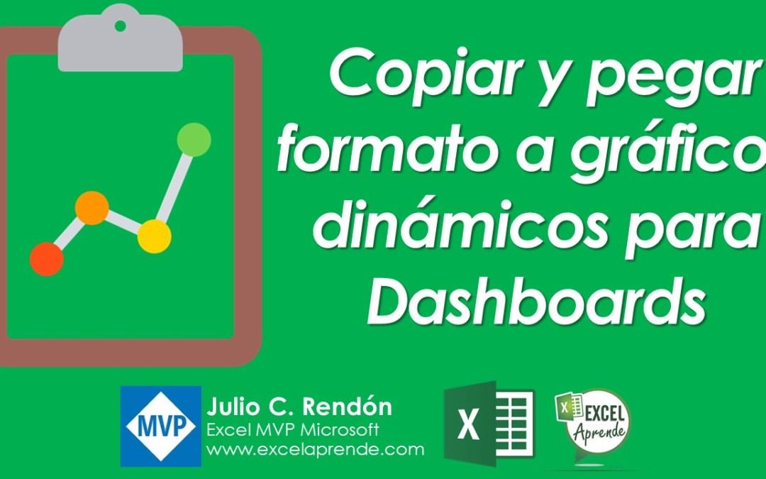 Copiar y pegar formato a gráficos dinámicos para Dashboards | Excel Aprende