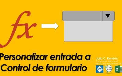 Personalizar Rangos entrada con formulas a Control de formulario | Excel Aprende