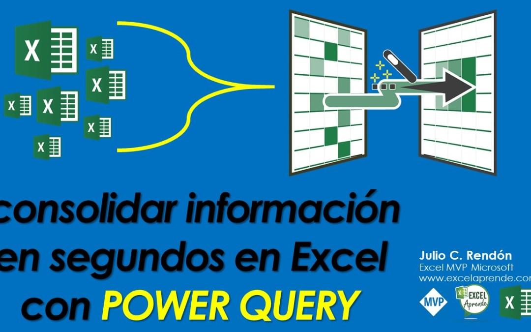 consolidar información en segundos en Excel con power query | Excel Aprende