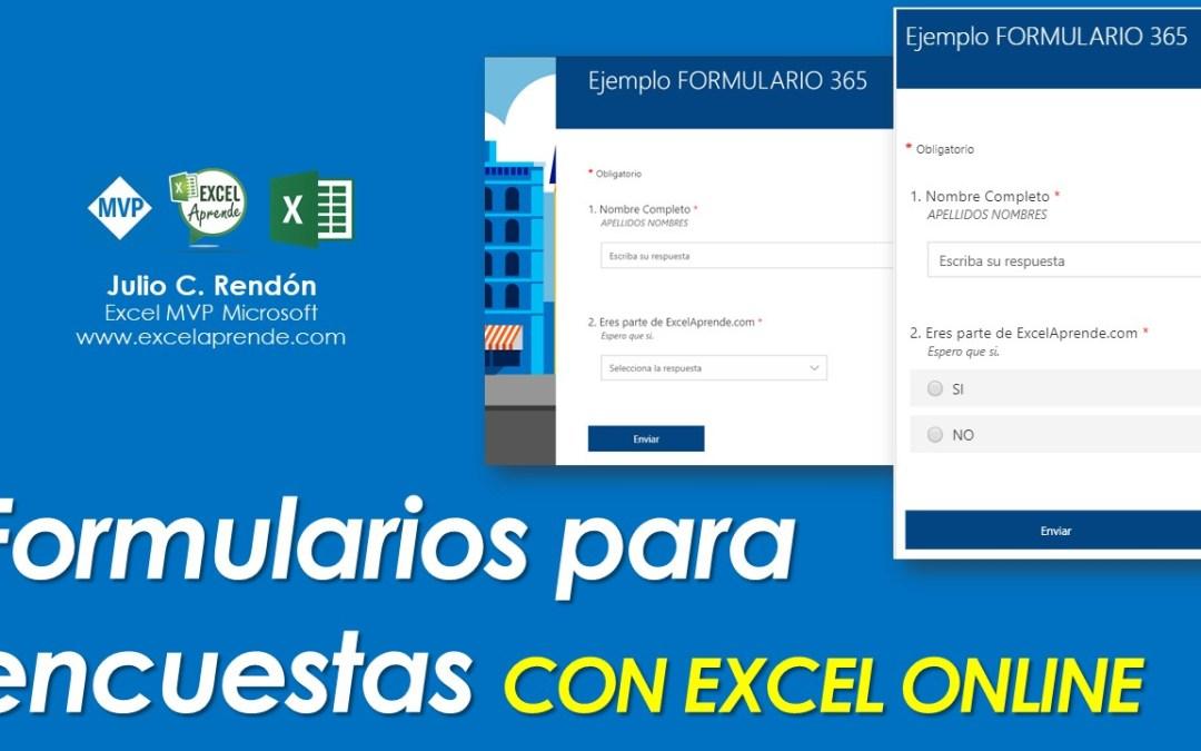 ⏰ Formularios para encuestas CON EXCEL ONLINE 📈   Excel Aprende