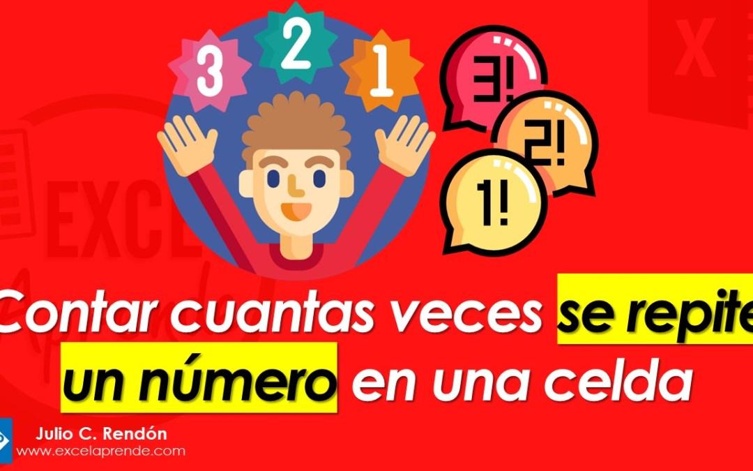 Contar cuantas veces se repite un número en una celda | Excel Aprende
