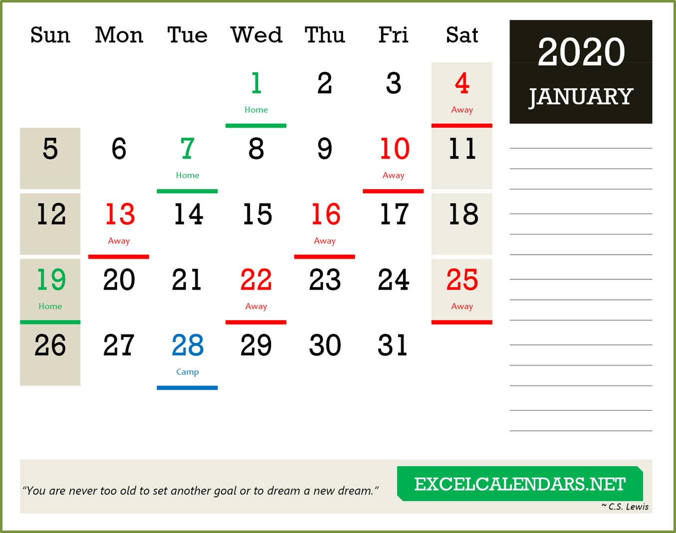 Calendar Templates For Year