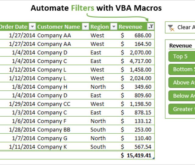 Excel Vba Refresh Worksheet Formulas, Automate Filters With Vba Macros Autofilter Guide, Excel Vba Refresh Worksheet Formulas