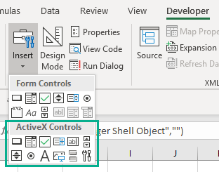 VBA loop through OLE Objects | EXCELCISE