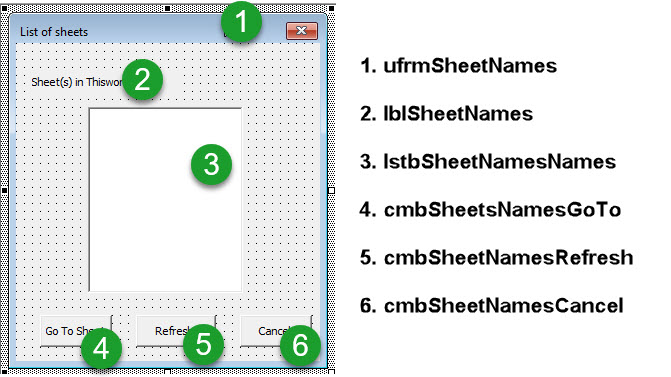 How to list/populate sheet names to a Listbox on a UserForm