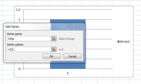 How to easily paste a defined name in chart dialog box excel i am trying to add the same defined name as a series name in this chart and excel is not autofilling choices for me like it did in the worksheet cell ccuart Choice Image