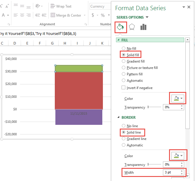 Format Sales Above Goal Data Point