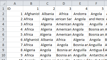 Text to Columns Unique Row and Column IDs