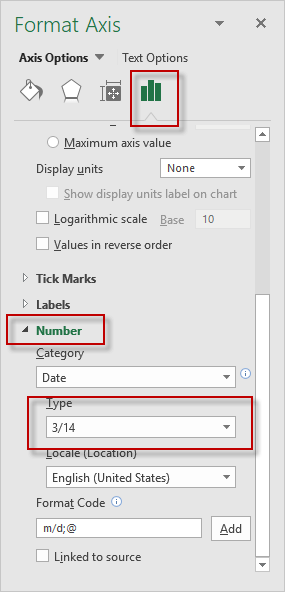 Excel 2016 Number Format Options Dialog Box