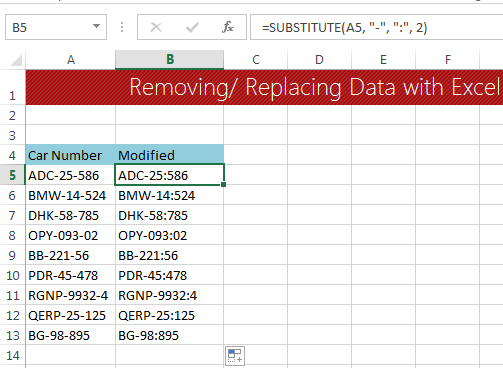 Data clean-up techniques in Excel: Replacing or removing ...