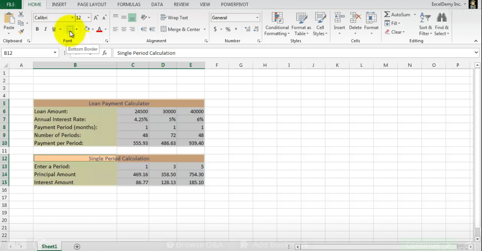 How To Add Or Remove Cell Borders In Excel