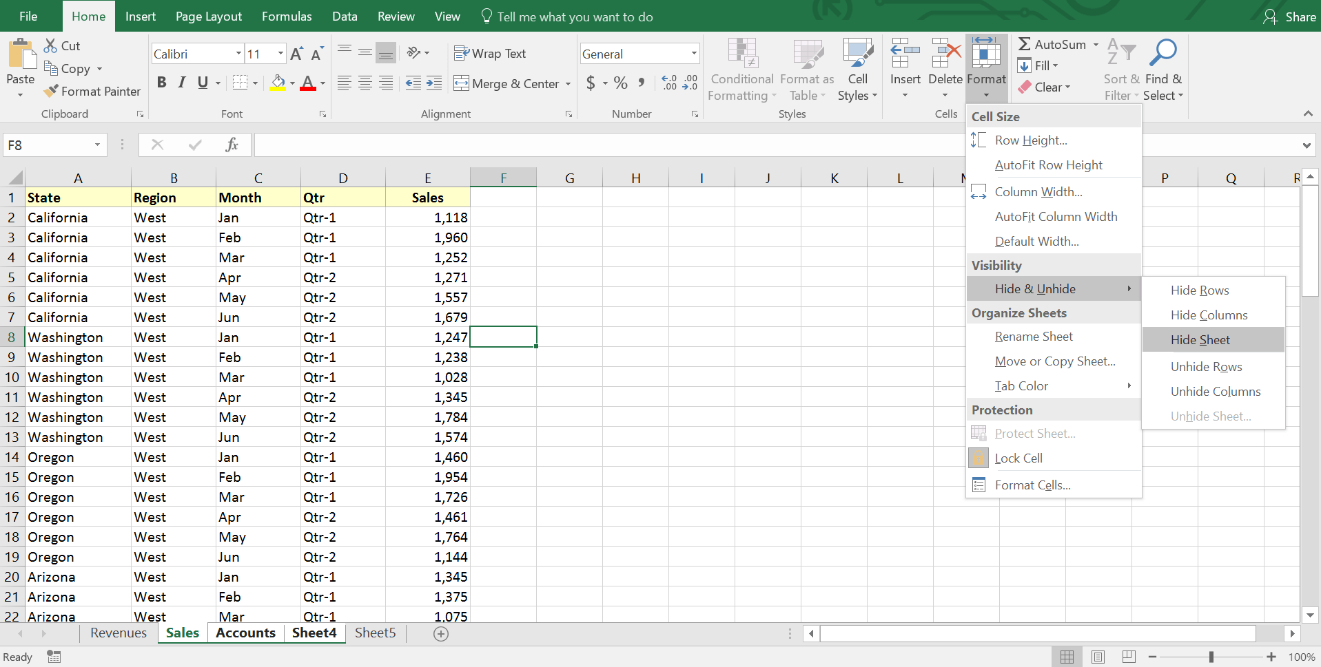 Worksheet Are Hidden In Excel