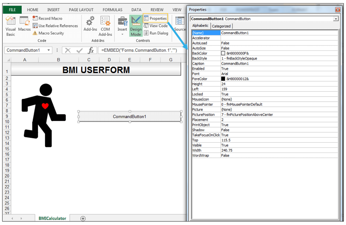 How To Create A Body Mass Index Bmi Calculator In Excel Using Vba