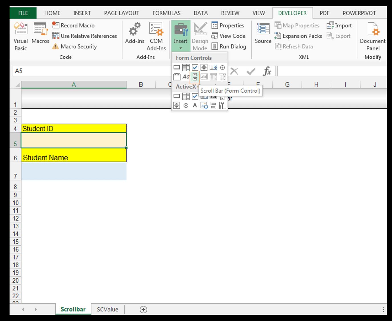 Breanna Excel Activex Form