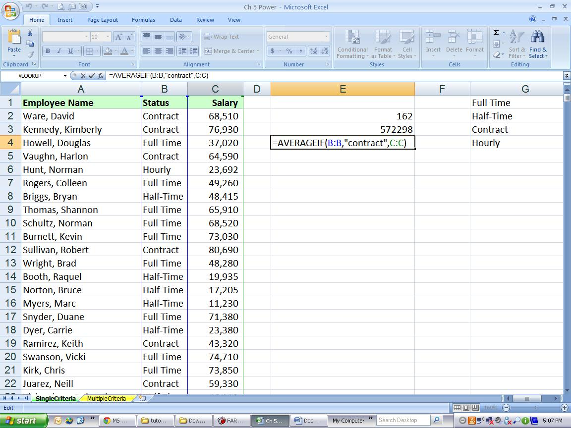 Excel Tips Tutorial How To Use Sumif Countif And