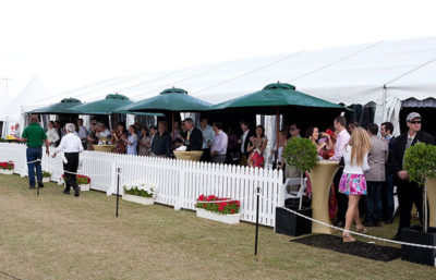 Polo marquee with deck