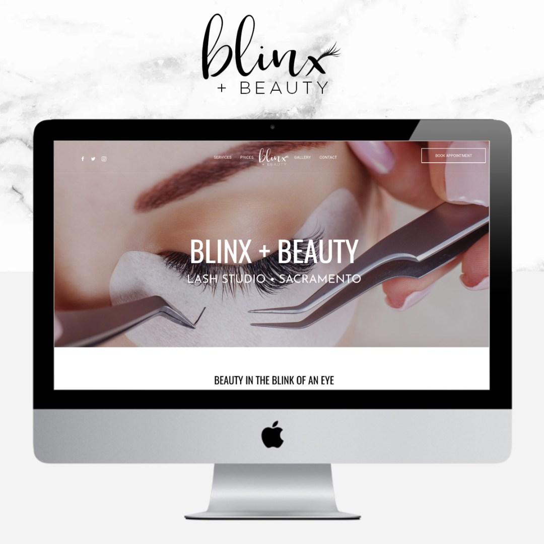 blinxandbeautyIG - Eyelash Extensions Branding & Website