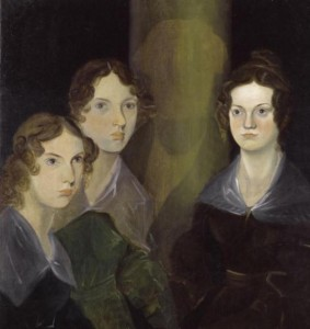 From left to right: Anne, Emily, and Charlotte Brontë; painted by their brother Patrick Bromwell Brontë before 1848; image courtesy of www.shmoop.com