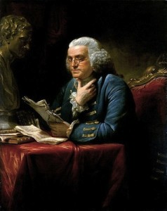 Benjamin Franklin, 1767, by David Martin