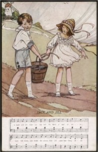 Jack and Jill illustration by Dorothy M. Wheeler, 1920.