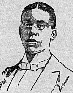 Paul Laurence Dunbar, from the book White Side of a Black Subject by Norman Wood. Chicago: American Publishing, 1897. Image courtesy of the Perry-Castañeda Library Portrait Gallery, University of Texas at Austin.