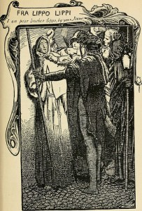 """An illustration of """"Fra Lippo Lippi"""" from a volume of Browning's poems, published in 1904."""
