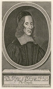 Engraving of George Herbert, poet.