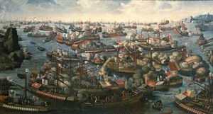 Battle of Lepanto, 1571. Oil on canvas.