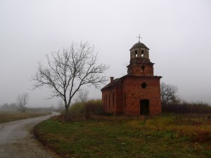 An unfinished church in Gaganitsa, Montana, Bulgaria, as photographed by Flickr.com user Deian Vladov.