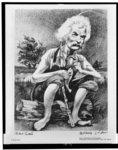 Mark Twain caricature drawing