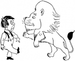 Provoking lions can be very dangerous indeed!