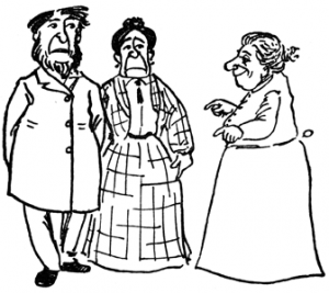 The Nurse had to tell Jim's parents about the lion incident (from Cautionary Tales for Children, by Hilaire Belloc).