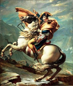 Napoleon Crossing the Alps (Malmaison version), 1800, Jacques-Louis David From www.the-athenaeum.org