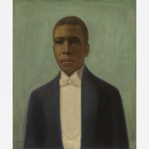 In 1934, William McKnight Farrow made this painting of Paul Laurence Dunbar (who had already died in 1906). This image comes from the Smithsonian Institution.
