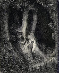 Gustave Doré, Canto 1 (Dante lost in the dark wood) www.artpassions.net