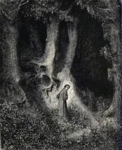 The adventure begins when Dante finds himself lost in a dark wood.