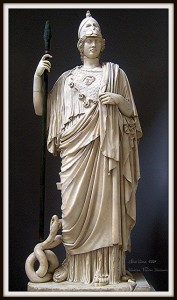 Elise Montgomery photographed this statue of Minerva At the Vatican Museums.
