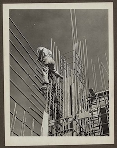 Worker at the Grand Coulee Dam