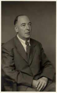 Scholar and writer C.S. Lewis, as photographed by Walter Stoneman in 1955.